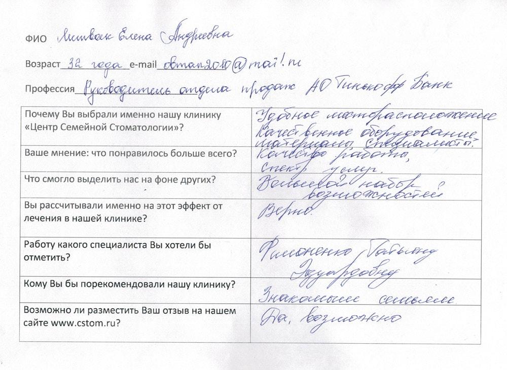 Литвак Елена Андреевна