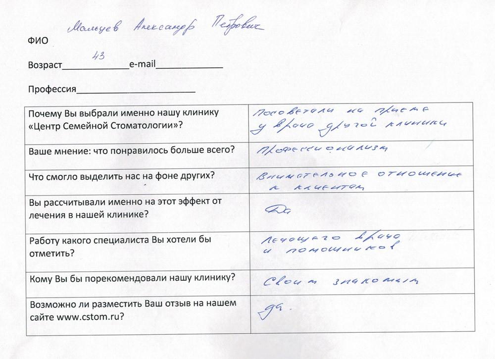 Мальцев Александр Петрович
